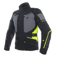 DAINESE CARVE MASTER 2 GORE-TEX JACKET - BLACK/EBONY/FLUO-YELLOW куртка тек муж