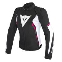 DAINESE AVRO D2 TEX LADY JACKET - BLACK/WHITE/FUXIA куртка текст жен
