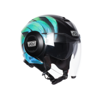 Мотошлем AGV FLUID MULTI KEW MATT BLACK LIME AQUA