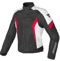 DAINESE AIR CRONO 2 TEX JACKET - BLACK/RED/WHITE куртка тек муж