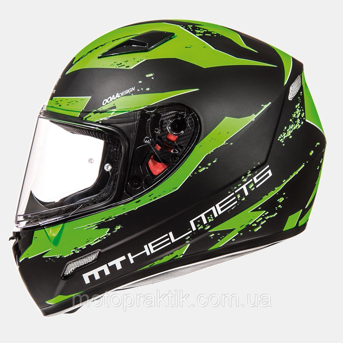 Мотошлем MT MUGELLO MATT BLACK FLUOR GREEN