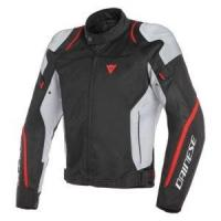 DAINESE AIR MASTER LADY TEX JACKET - BLACK/GLACIER-GRAY/FLUO-RED куртка тек жен