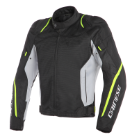 DAINESE AIR MASTER TEX JACKET - BLACK/GLACIER-GRAY/FLUO-YELLOW куртка тек муж