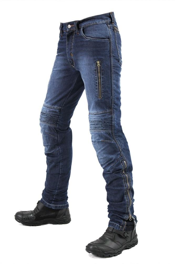 Мотоджинсы мужские INFLAME DRACO, цвет синий купить в интернет-магазине мотоэкипировки в Москве и СПб