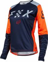 Мотоджерси женская Fox Switch Womens Jersey Grey/Orange
