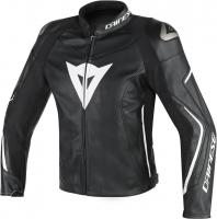 DAINESE ASSEN LEATHER JACKET - BLACK/BLACK/WHITE куртка кож муж