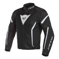 DAINESE AIR CRONO 2 TEX JACKET - BLACK/BLACK/WHITE куртка тек муж