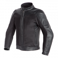 DAINESE CORBIN D-DRY LEATHER JACKET - BLACK/BLACK куртка кож муж