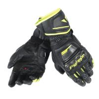DAINESE DRUID D1 LONG GLOVES - NERO/NERO/GIALLO-FLUO перчатки муж