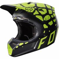 Мотошлем Fox V3 Grav Helmet Black/Yellow