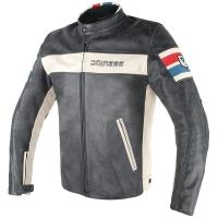 DAINESE HF D1 LEATHER JACKET - BLACK/ICE/RED/BLUE куртка кож муж