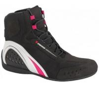DAINESE MOTORSHOE AIR LADY SHOES JB - BLACK/WHITE/FUCHSIA ботинки жен