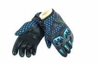 DAINESE AIR HERO GLOVES - BLACK/ELECTRIC-BLUE перчатки короткие муж
