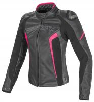 DAINESE RACING 3 LADY LEATHER JACKET - BLACK/WHITE/FUCHSIA куртка кож жен