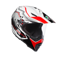 Мотошлем AGV AX-8 DUAL EVO MULTI EARTH WHITE BLACK RED