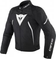 DAINESE AVRO D2 TEX LADY JACKET - BLACK/BLACK/WHITE куртка текст жен