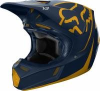 Мотошлем Fox V3 Kila Helmet Navy/Yellow