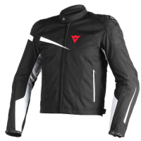 DAINESE VELOSTER TEX JACKET - BLACK/BLACK/WHITE куртка текстиль муж
