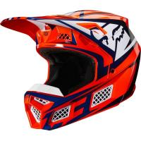 Мотошлем Fox V3 Idol Helmet Orange/Blue