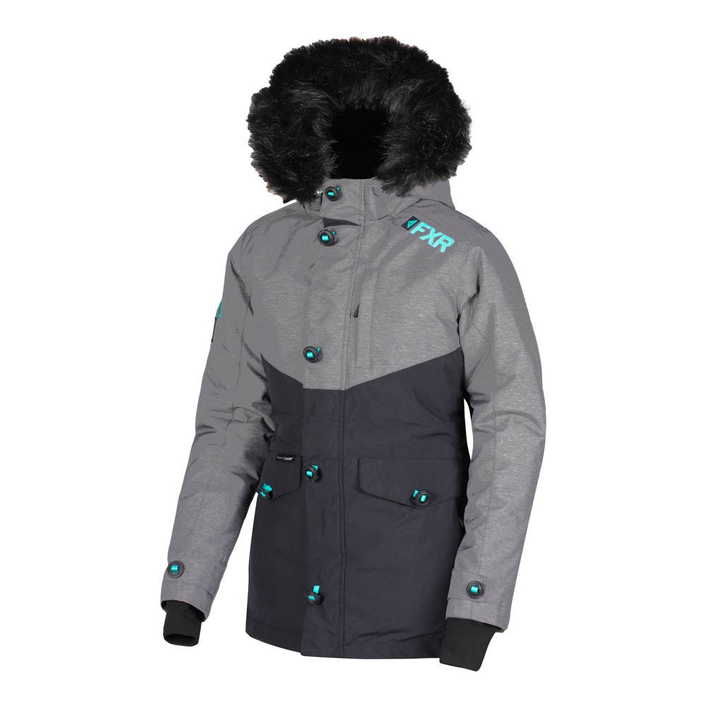 Парка FXR Svalbard с утеплителем Mid Grey Heather/Black/Mint